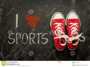 i-love-sports-poster-design-red-sneakers-black-chalkboard-above-48702519